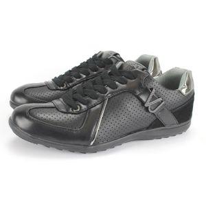 a480c40907e2 Versace Logo Runner Trainer Noir Noir Chaussures Homme Chaussures Versace  Pas cher FR+Hc191