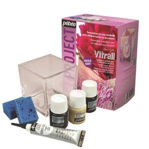KIT PEINTURE PEBEO Kit Personnalisation Vase Vitrail