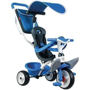 TRICYCLE SMOBY Tricycle Baby Balade Roues Silencieuses Bleu