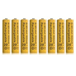 BATTERIE VÉHICULE 8pcs Ni MH AAA 1800mAh 1.2V Rechargeable Batteries