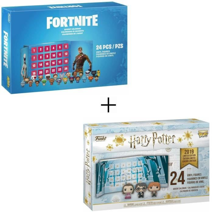 Pack 2 Calendriers de l' Avent Funko Pocket Pop! : Harry Potter + Fortnite