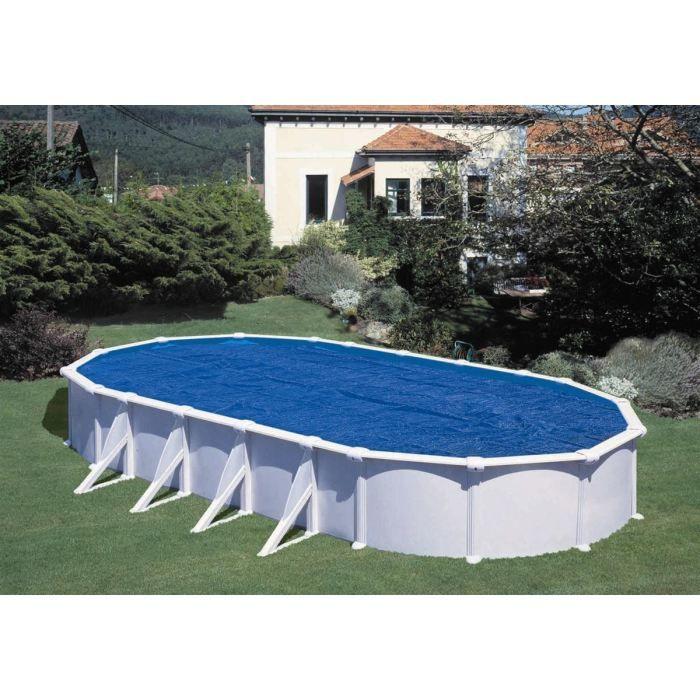 GRE Bâche à bulles pour piscine ovale 1000x550 cm anti U.V.A.