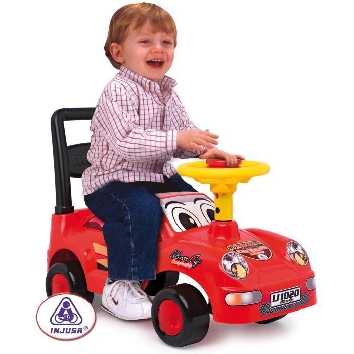INJUSA Porteur enfant rouge Racing cars