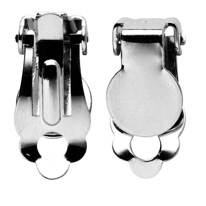 Boucles d'oreille clips - Plateau à décorer - Sachet de 5 pairesSUPPORT BIJOUX - SUPPORT BAGUE - BARRETTE A CHEVEUX - BOUCLE D'OREILLE - BRACELET - BROCHE