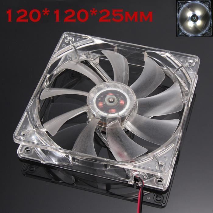 BHH61124002@Silencieux 12 cm-120 mm-120x120x25mm 12V Computer-PC-CPU ventilateur silencieux de cas de refroidissement
