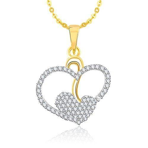 Cadeaux Saint Valentin femmes Pendentifs pour Avec chaîne plaqué or Ps547 SNQVR