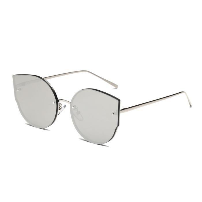 Couleurs féminines oeil de chat vintage miroir élégant style rétro lunettes de soleil classique