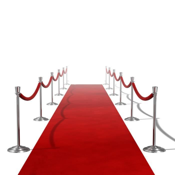 tapis rouge 1 x 5 m achat vente tapis de couloir cdiscount. Black Bedroom Furniture Sets. Home Design Ideas