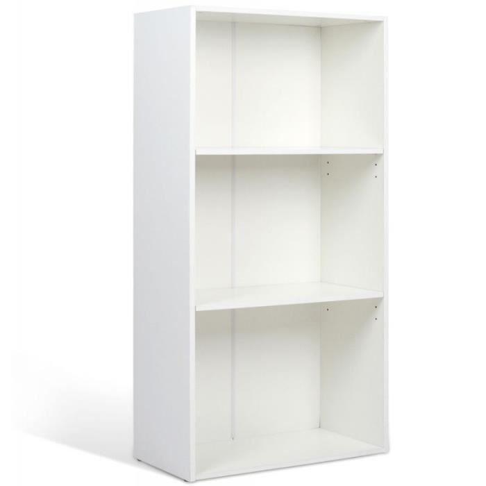 Tag re biblioth que meuble rangement couleur blanc - Meuble rangement bibliotheque ...