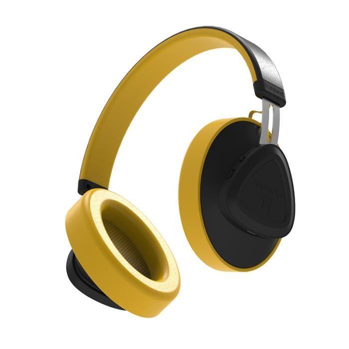 Bluedio Tm Bluetooth Stéréo Casque Sans Fil,bluetooth 5.0 Sound Control Portable Avec Micro Pour Téléphones Et Musique Jaune