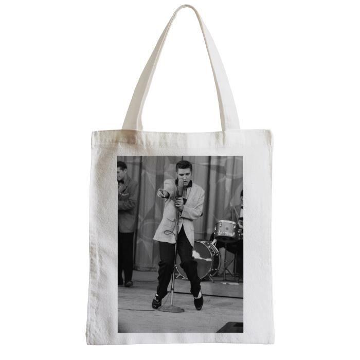 15 Plage Shopping Grand Sac Chanteur Célébrité Presley De Photo Etudiant Original Musique Star Elvis Vieille 6xgpU
