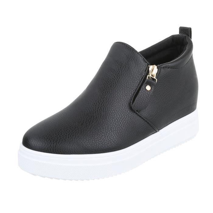 Chaussures femme bottine semelle compenséenoir 41