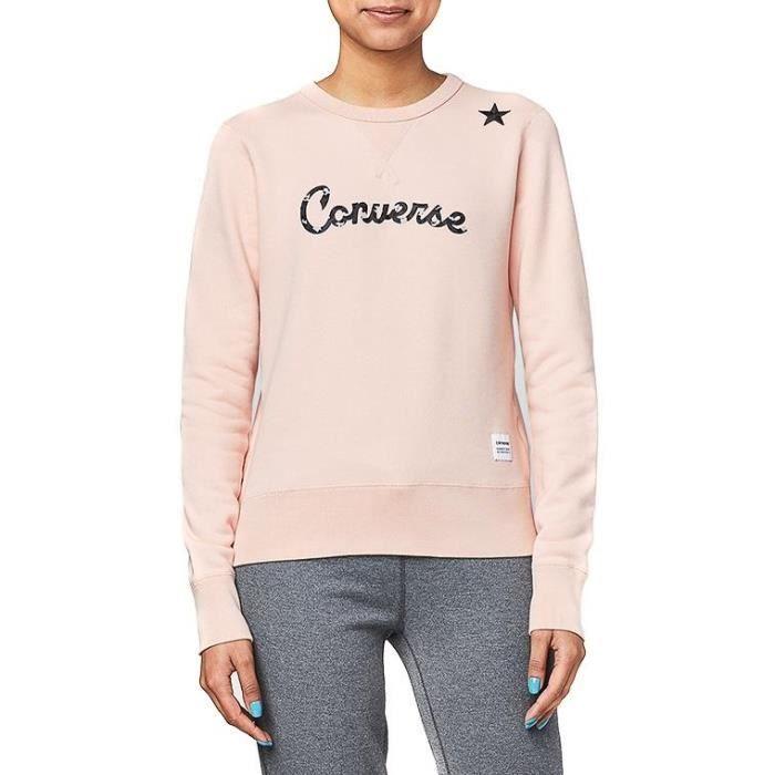 Sweat Converse Essentials Leopard Star Rose Rose - Achat   Vente ... 5e1c91a96daa