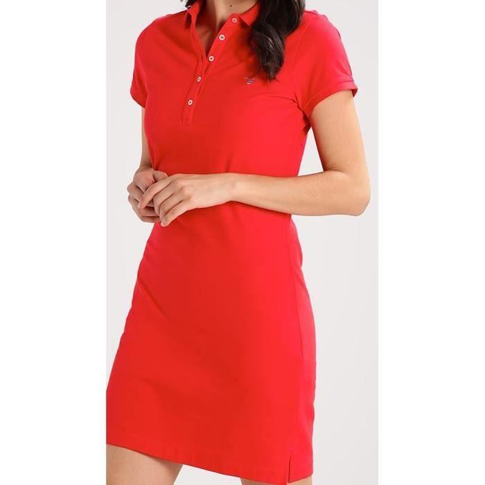 3460a6e350 GANT Original Pique Robe polo pour femme Rouge L Rouge - Achat ...