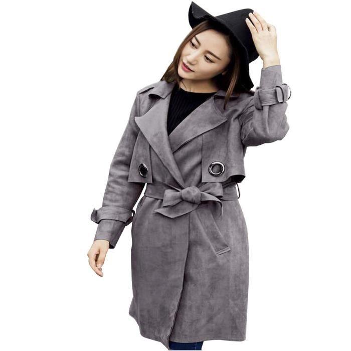 veste en daim femme gris vestes la mode 2018. Black Bedroom Furniture Sets. Home Design Ideas