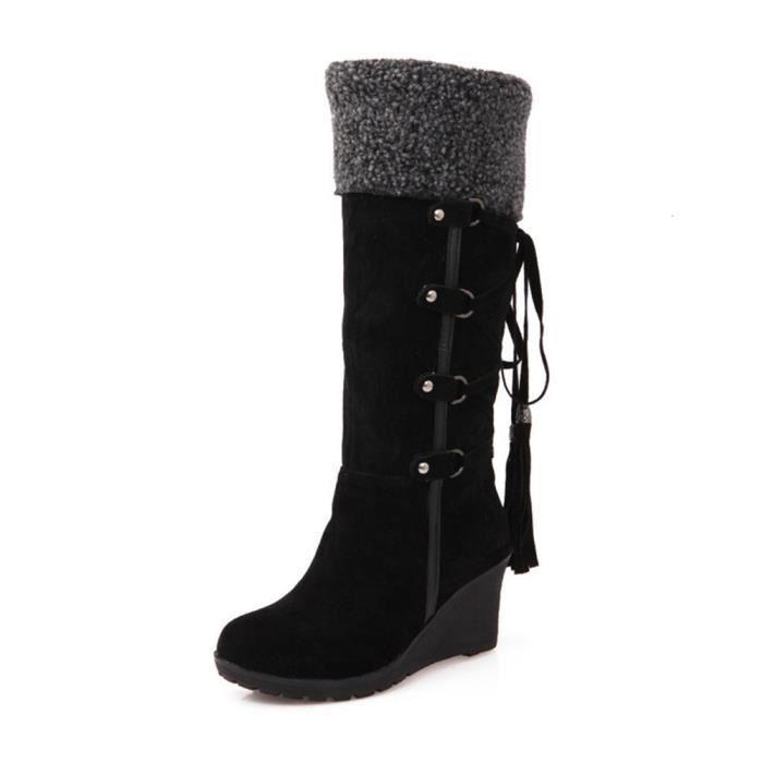 Femmes Chaussure Marque De Luxe ete Qualité Supérieure Bottines Nouvelle arrivee De Talons hauts Grande Plus Taille 43,noir,37