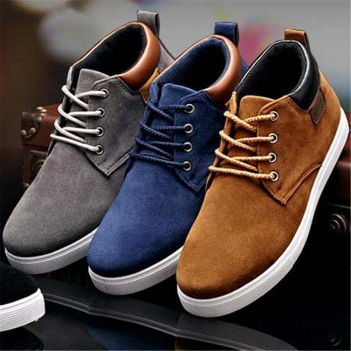 sneakers homme suÈde Antidérapant Moccasins Hommes Marque De Luxe Chaussure de sport Les chaussures de loisirs Respirant Plus