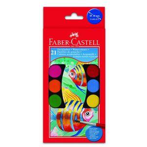 CRAYON DE COULEUR FABER-CASTELL Boîte de 21 couleurs Pastilles de go