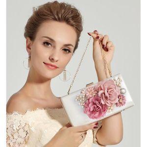 POCHETTE Fleurs élégantes Sac Embrayage Pochette Mariage Po