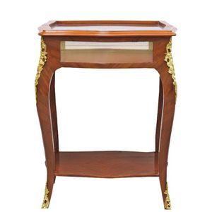 TABLE D'APPOINT Casa Padrino Table d'Appoint Baroque en Acajou Mar
