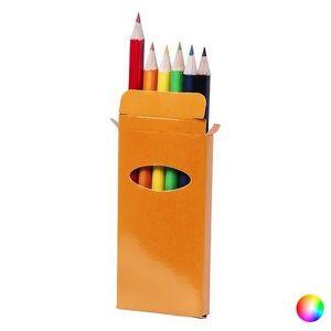 CRAYON GRAPHITE Boîte avec des crayons de couleur (6 pièces) - Pou