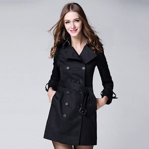 Vente Achat Trench Boutonnage Noir Manteau Femme Double 2EIDY9WHbe