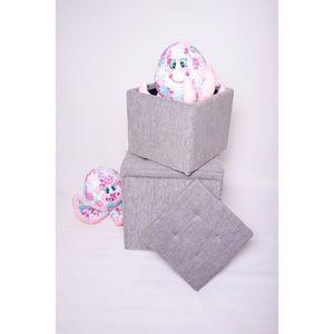 POUF - POIRE Pouf coffre carré Cosy PM - 100% polyester - 42 x
