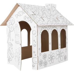 maison carton a colorier achat vente jeux et jouets pas chers. Black Bedroom Furniture Sets. Home Design Ideas