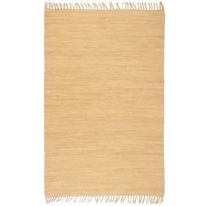 TAPIS Tapis salon 120 x 170 cm tapis chindi coton tissé
