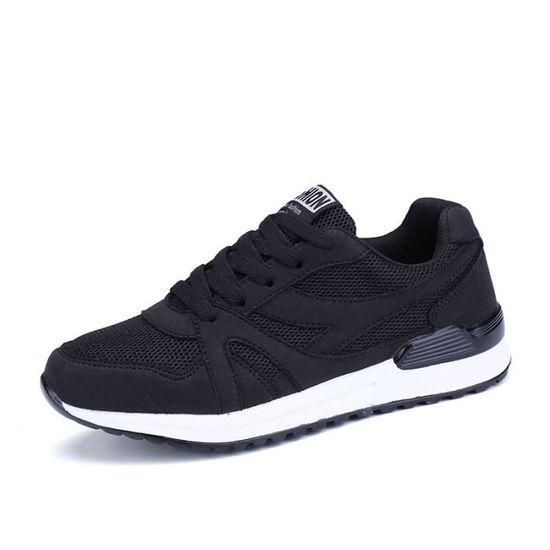 Sneakers Chaussures de sport pour Femme Noir Noir - Achat / Vente basket