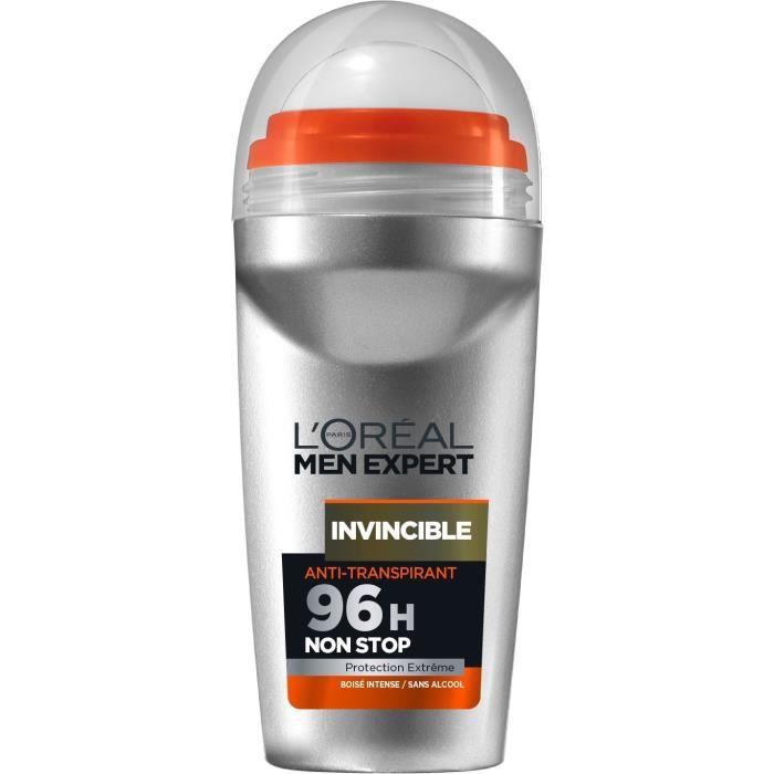 L'OREAL PARIS Déodorant roll-on Men Expert Invincible 96H - Homme - 50 ml