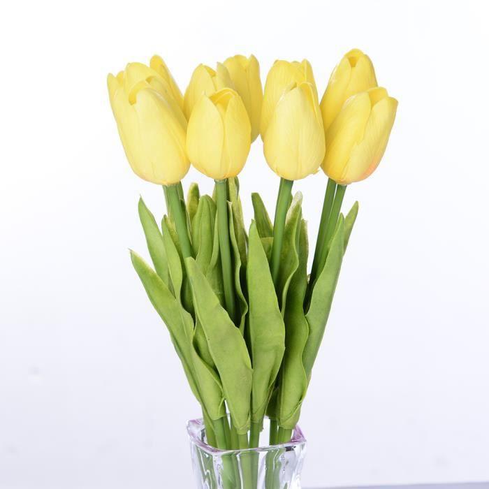 tulipe jaune artificielle