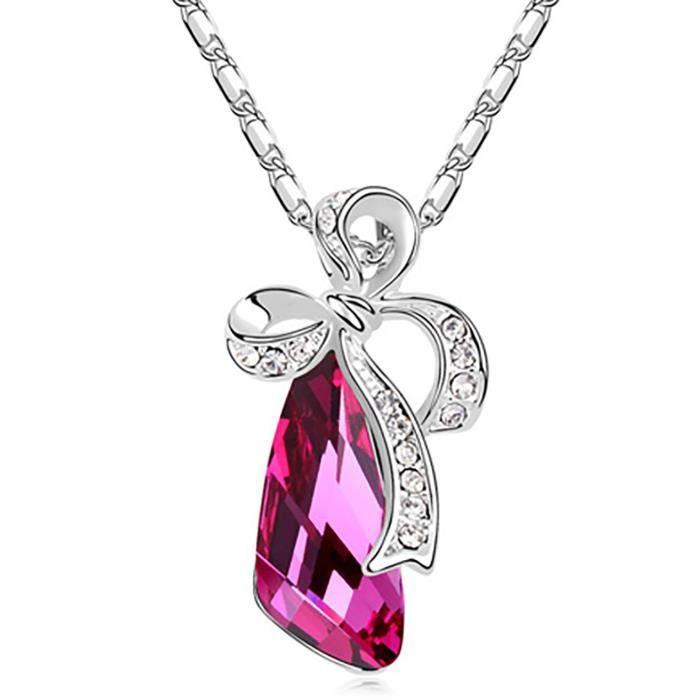Cadeaux Saint-Valentin des femmes Cristaux spéciales Timeless Treasure Collier Swarovski Pendentif pour -. Z9RPV