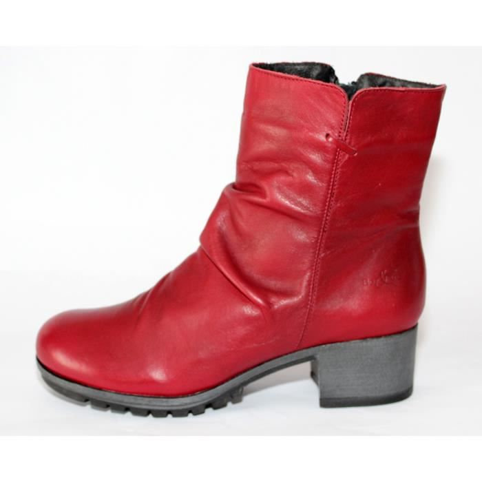 Rouge Bottines Chaussures Cuir Neuves Achat Mode T 37 HD9I2YWE
