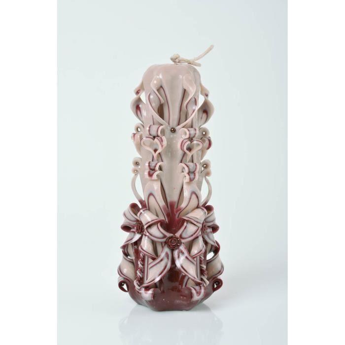 grosse bougie originale sculpt e en paraffine faite main accessoire festif cadeau artisanal. Black Bedroom Furniture Sets. Home Design Ideas