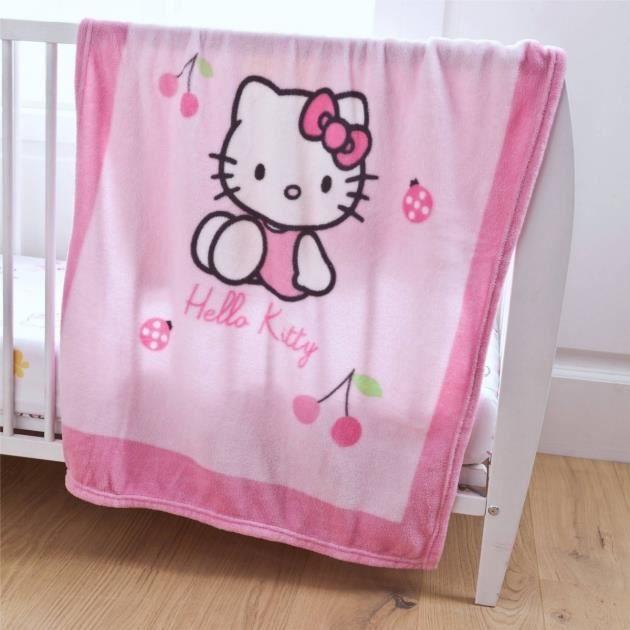couverture polaire bébé hello kitty HELLO KITTY  Couverture enfant   Plaid Coccinel…   Achat / Vente  couverture polaire bébé hello kitty