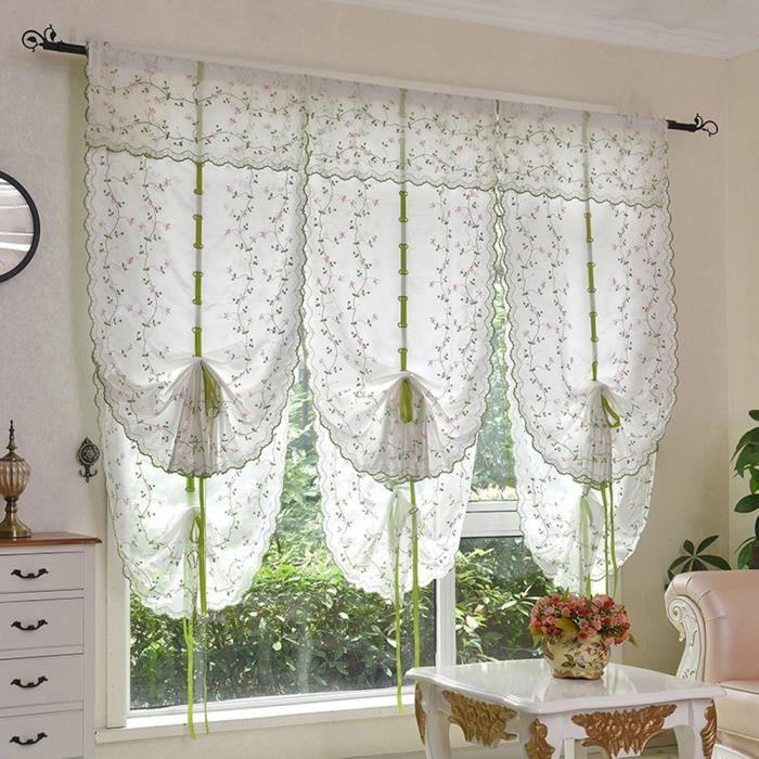 blanc 80 140cm 1 pc rideau pour fen tre de salon chambre. Black Bedroom Furniture Sets. Home Design Ideas