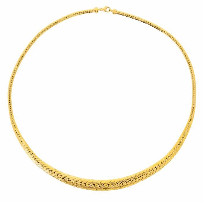Collier Maille AnglaiseChute en OrJaune 750/1000