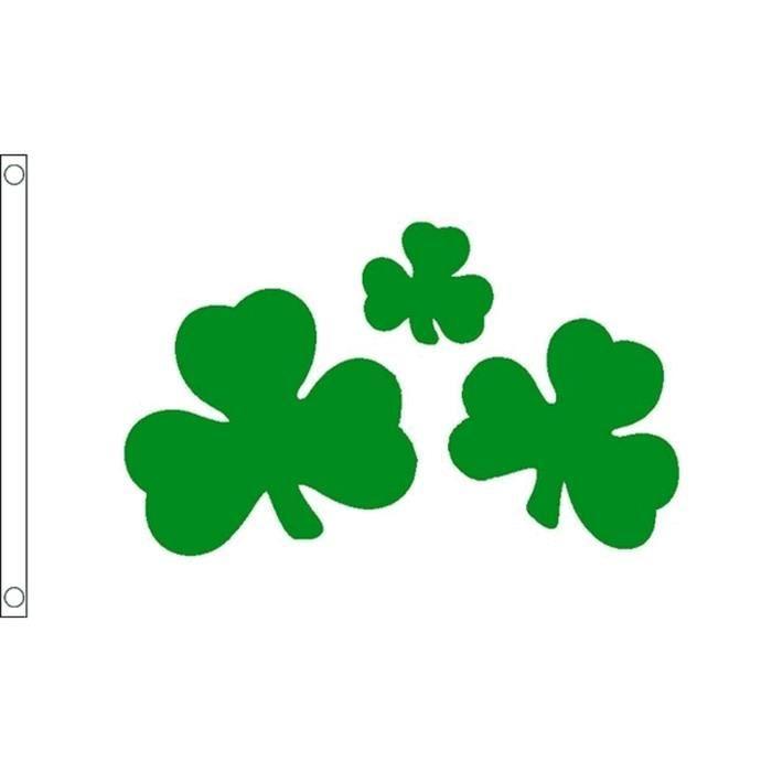 Drapeau Tr 232 Fle Irlandais Shamrock 90x60cm De L Irlande