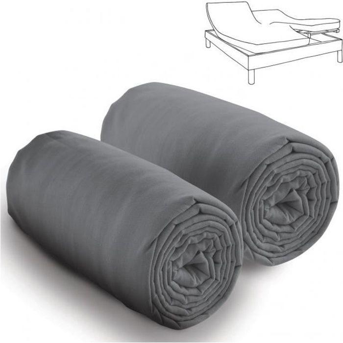 Drap housse 80x200 pour lit articule   Achat / Vente pas cher