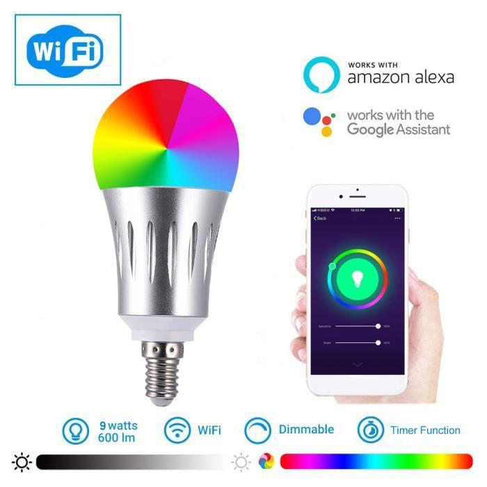 AMPOULE - LED 2178 Smart WIFI Ampoule LED WIFI Light RGB Ampoule