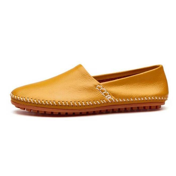 chaussures homme En Cuir Moccasin Marque De Luxe Loafer En Cuir Nouvelle Mode 2017 ete Moccasin hommes Grande Taille 38-47