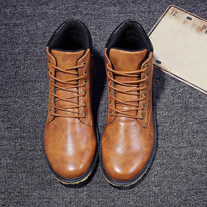 deuxsuns®Hommes Low cheville garniture plate cheville automne hiver bottes occasionnels Martin chaussures 2tbZedQlE