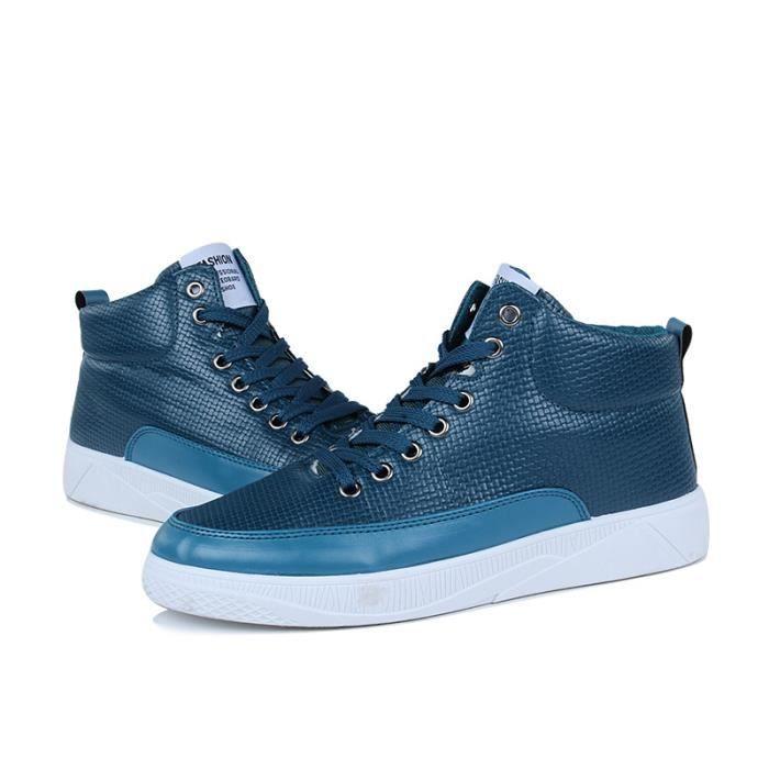 Chaussure homme Skateboarding les souliers montants de plein air Baskets Confortable Durable Marque De Luxe Grande Taille Bleu Bleu - Achat / Vente basket  - Soldes* dès le 27 juin ! Cdiscount