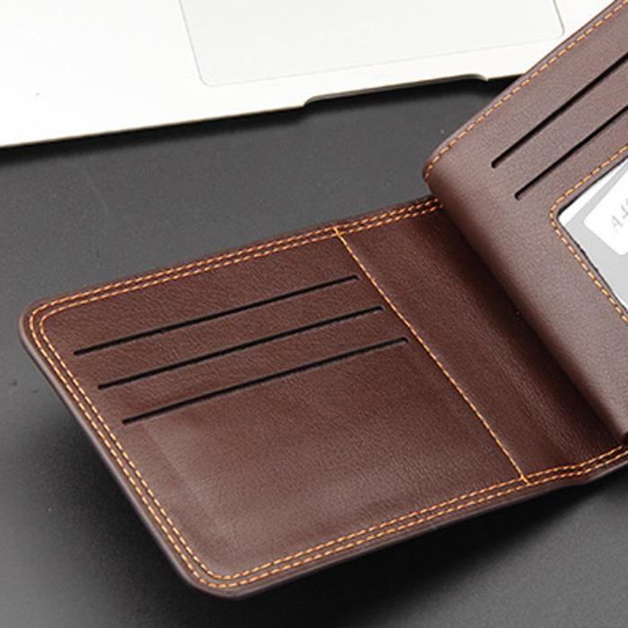 Lhl71021778co Main Titulaire En Carte Porte Mode La Hommes D'identité Portefeuille monnaie À Sac De Cuir Des qZSqp