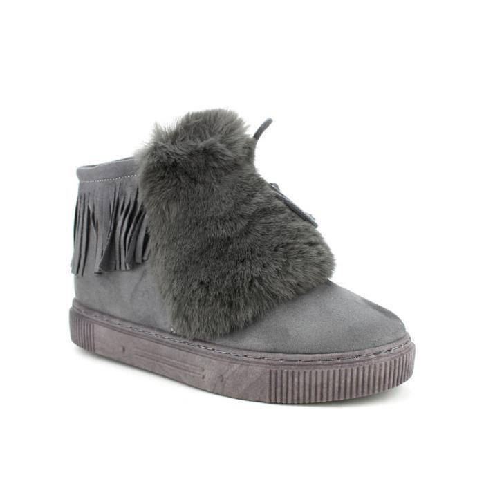 Cendriyon Bottines Gris Chaussures Boots Bottine Femme qgOXzOw5
