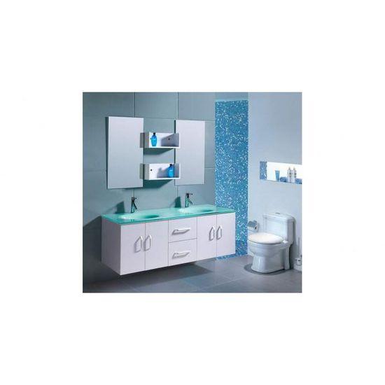 Ensemble Meuble Salle De Bain Ares W 2 Vasque 2miroir.Meuble De Salle De Bain Gaia 2 Vasques 2 Miroirs Blanc