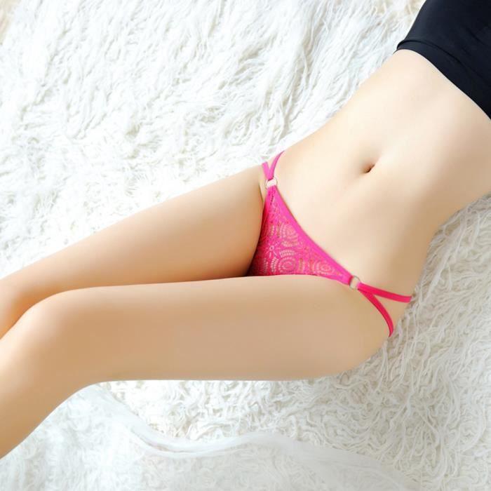 Culotte Femmes Sous Vif Floral Thongs rose Basse Free Creux Taille Sexy vêtements De Slip Dentelle 5POwxFzqF