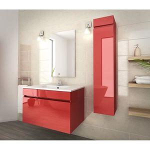 meuble salle de bain rouge achat vente meuble salle de bain rouge pas cher soldes d s le. Black Bedroom Furniture Sets. Home Design Ideas