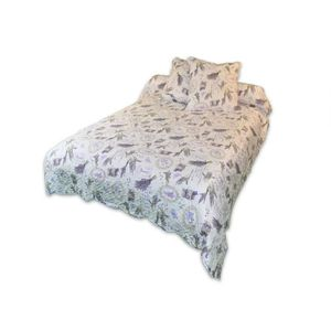 SOLEIL D'OCRE Couvre lit Boutis Pascale 220x240cm avec 2 taies d'oreiller